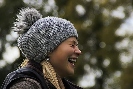 close up photo of woman laughing