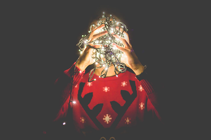 Tangled Christmas Lights Instead of my Head