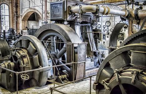 black industrial machines