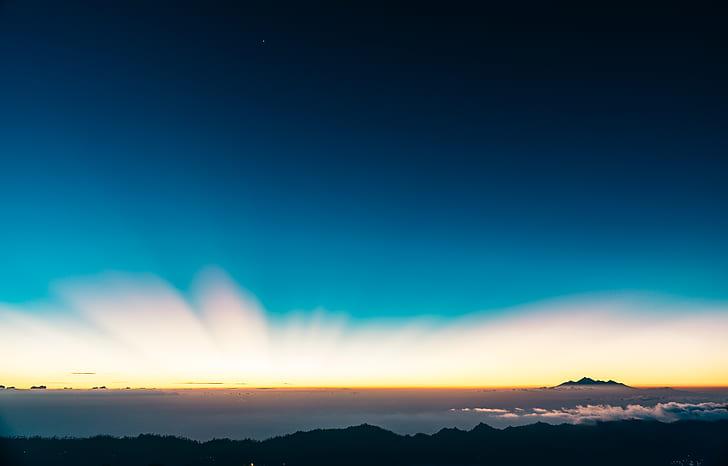 sky, horizon, sunset, sunrise, mountain