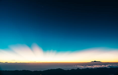 sky, horizon, sunset, sunrise, mountain