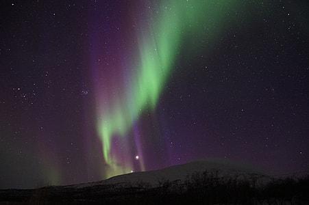 aurora borealis, northern lights, sweden, lapland, kiruna, abisko