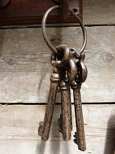 closed photography of three keys