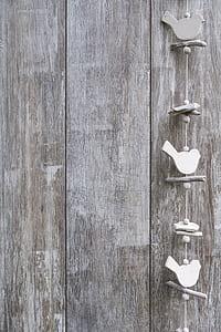 white bird hanging decor