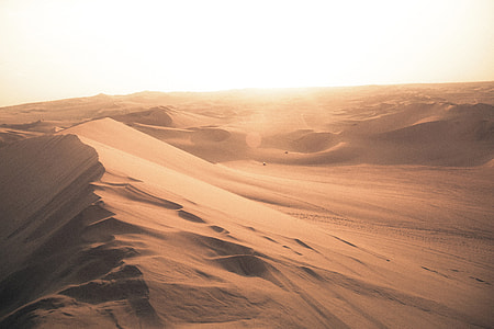 Desert landscape in Peru