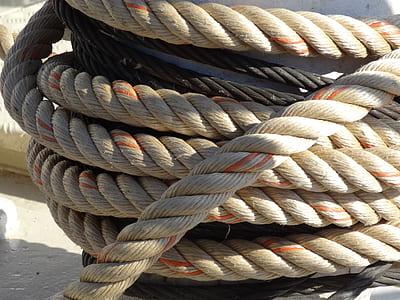spooled beige rope