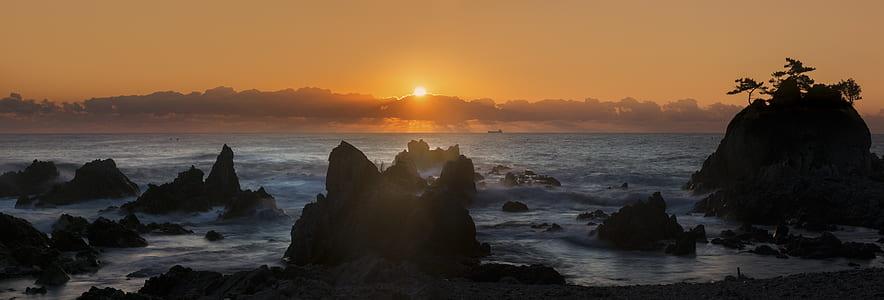 beach during sunrise
