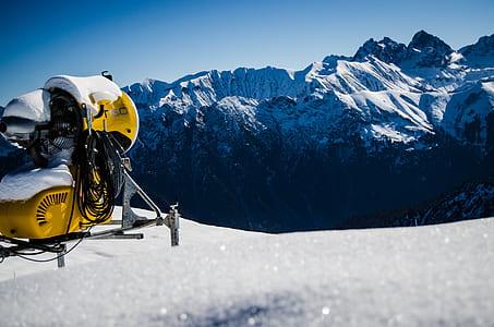 Machine On Snowy Mountain