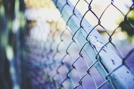 gray chain-link fence