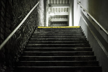 low-angle photography of stairway