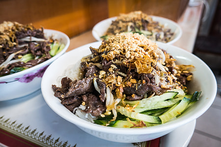 Vietnamese Bun Bo Nam Bo