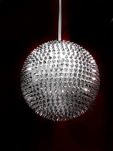 round silver-colored spike studded hanging decor