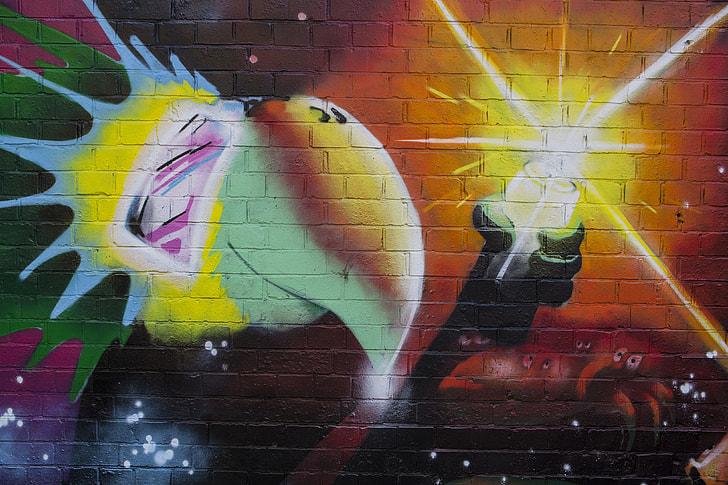 Street art captured on an urban wall
