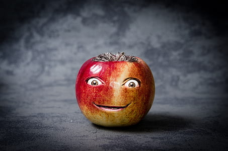 apple fruit with eyes