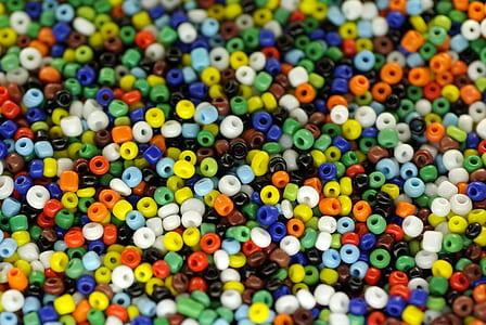 unused plastic beads