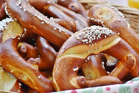 bucket of pretzels
