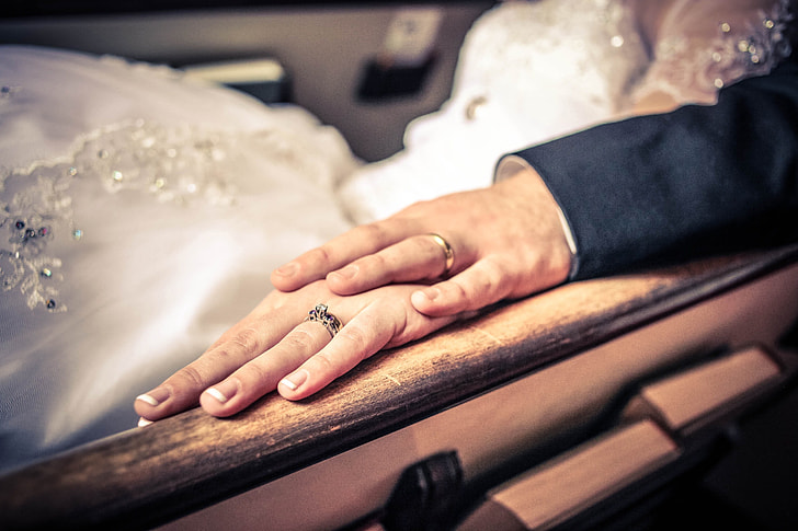 Wedding hands and rings