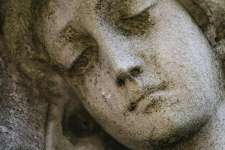 face, human statue, angel, statue, cemetery, religion