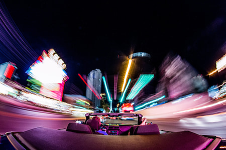 Driving In Las Vegas At Night
