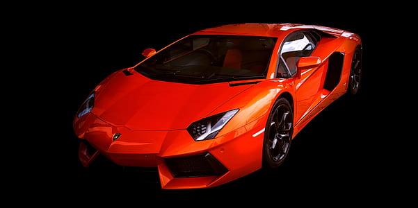 red Lamborghini car