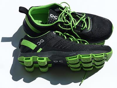 Black Green Sneakers