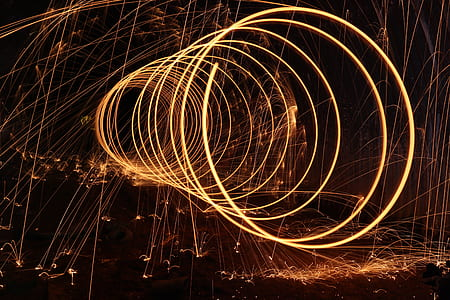 Steel Wool Photography during Night