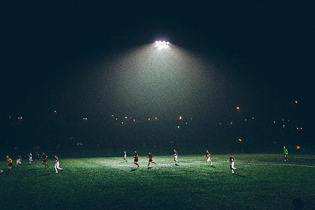 Football Match Night Lights
