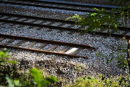 photo of train rails