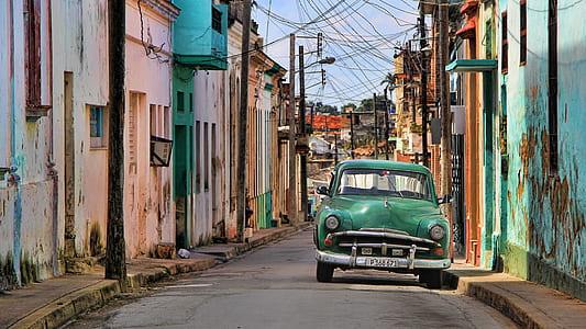 classic green car