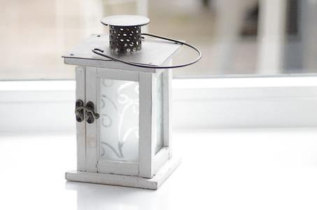 white lantern lamp