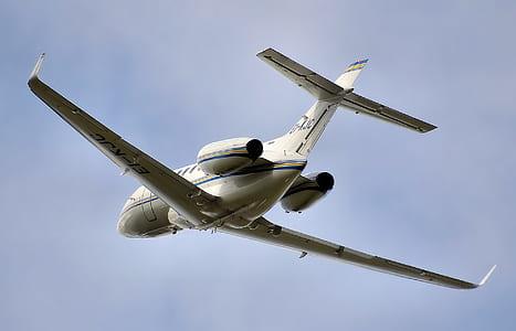 white airplane