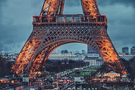 Eiffel Tower Paris at night time