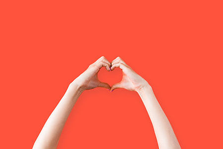 Female Hands Love Heart Symbol