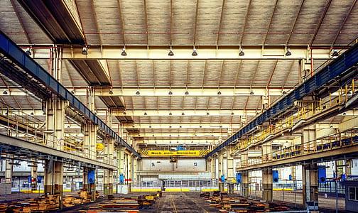 beige factory interior
