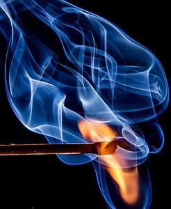 flaming match