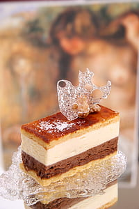 cake with crystal ice on top