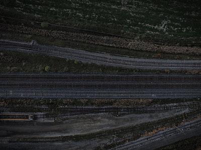 rail train top view