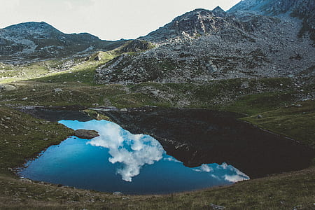 Landscape Photograph of Body of Water and Mountains