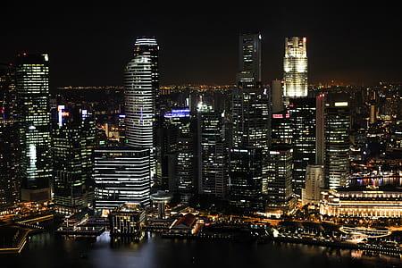 nighttime photo of a city