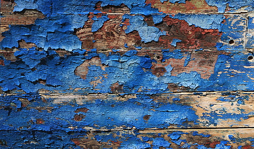digital wallpaper of blue slatted wooden board