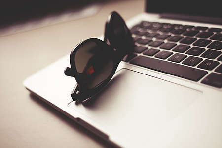 Style Sunglasses with MacBook