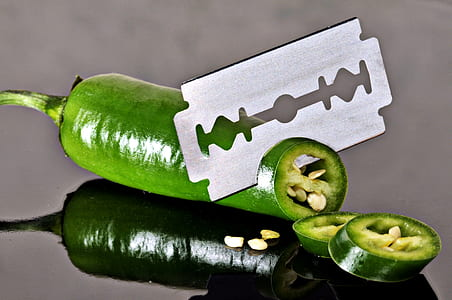 green chili with gray steel blade
