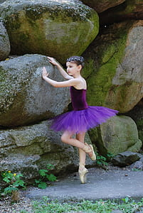 girl in purple tutu dress