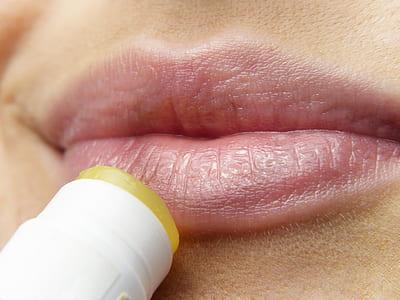 pink human lips