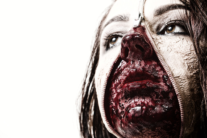 PersoninHalloween horror makeup