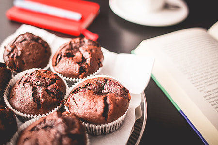 Sweet Muffins with A Book