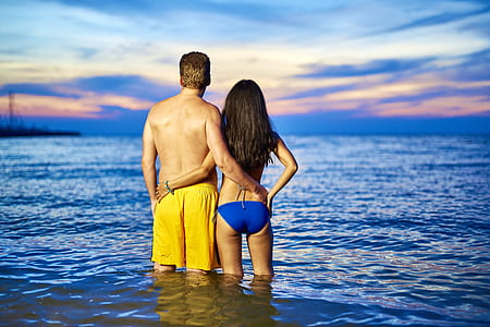 women's blue bikini bottom