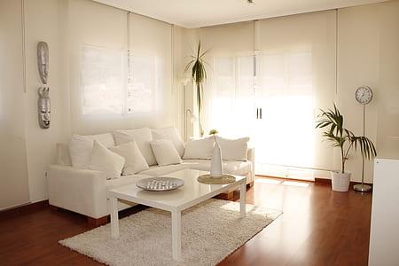 rectangular white wooden table