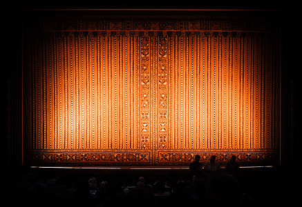 brown theater curtain