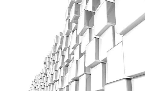 white cube lot digital wall pape